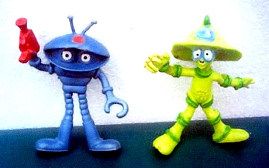Pizza Hut Toys : Who the heck is walk a tron and this little alien
